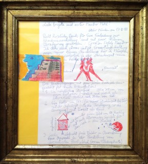 Brief an Josef Mikl, 1988