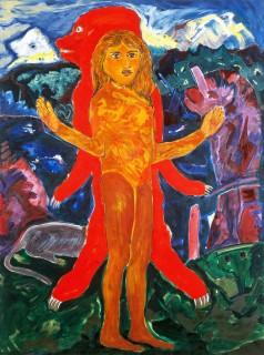 Die Bärenfrau 200x150 Öl/Leinwand