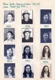 Alfred Klinkan, Selbstportraits 1969-74